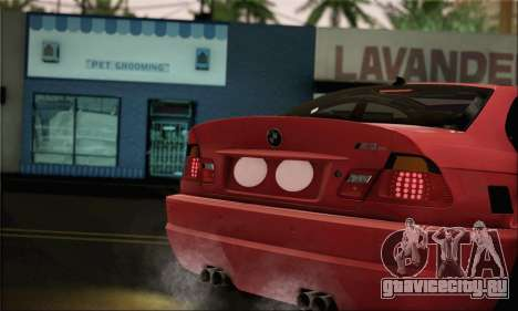BMW M3 Coupe Tuned Version Burnout для GTA San Andreas вид сзади слева