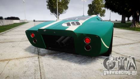 Ford GT40 Mark IV 1967 PJ Schila Racing 19 для GTA 4 вид сзади слева