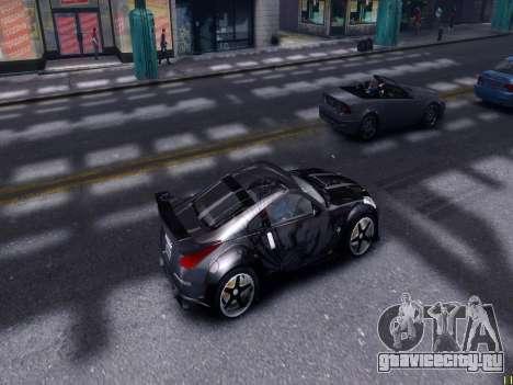 Nissan 350Z Tokyo Drift для GTA 4 вид изнутри