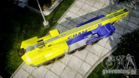 Автокран Champion v2.0 для GTA 4 вид справа
