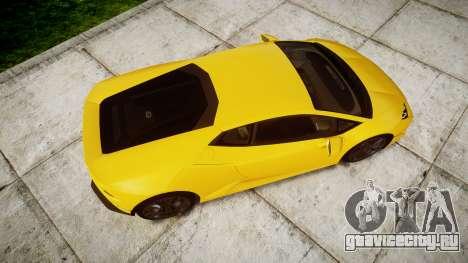 Lamborghini Huracan LP610-4 для GTA 4 вид справа