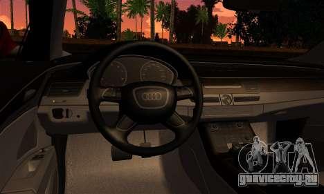 Audi S8 для GTA San Andreas вид сзади слева
