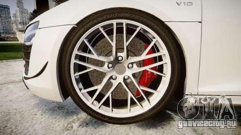 Audi R8 LMX 2015 [EPM] [Update] для GTA 4 вид сзади