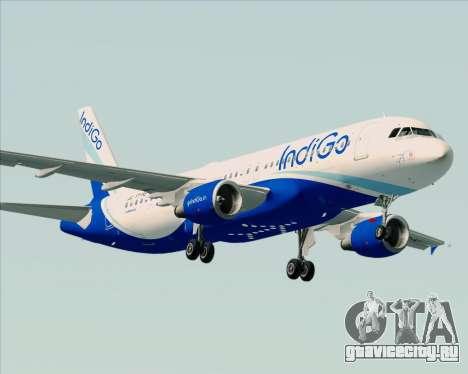 Airbus A320-200 IndiGo для GTA San Andreas вид справа