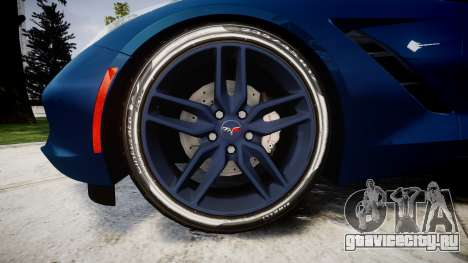 Chevrolet Corvette C7 Stingray 2014 v2.0 TirePi1 для GTA 4 вид сзади