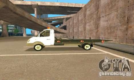 Газель Эвакуатор 33023 Beta v1.2 для GTA San Andreas вид сверху