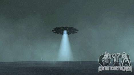 НЛО над Сан Андреас для GTA San Andreas второй скриншот
