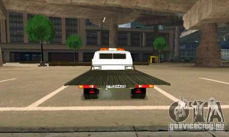 Газель Эвакуатор 33023 Beta v1.2 для GTA San Andreas вид сзади слева