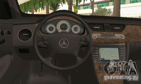 Mercedes-Benz CLS 500 для GTA San Andreas вид сзади слева