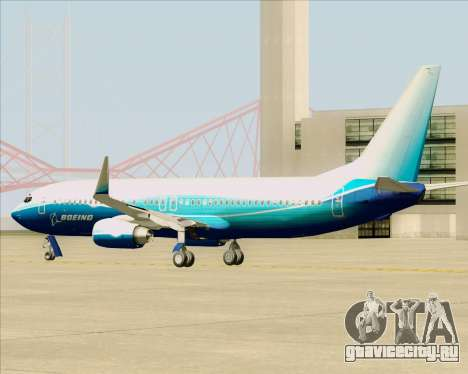 Boeing 737-800 House Colors для GTA San Andreas вид сзади