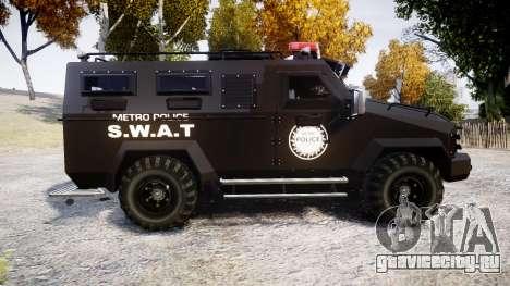 SWAT Van Metro Police [ELS] для GTA 4 вид слева