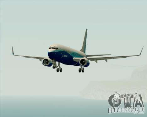 Boeing 737-800 House Colors для GTA San Andreas вид снизу