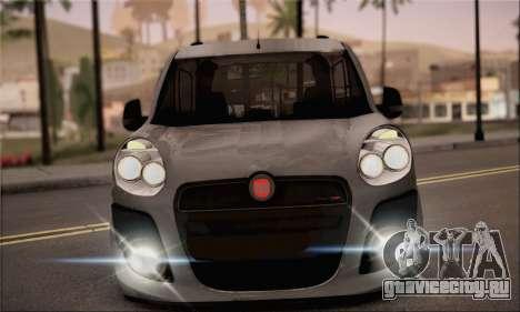 Fiat Doblo 2010 для GTA San Andreas вид сзади слева