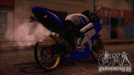 Yamaha R15 Modif для GTA San Andreas вид слева