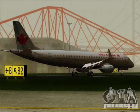 Embraer E-190 Air Canada для GTA San Andreas вид сбоку