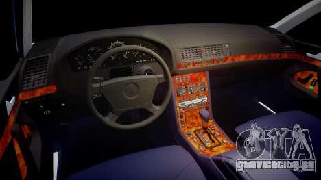 Mercedes-Benz 600SEL W140 для GTA 4 вид сзади