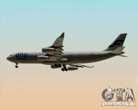 Airbus A340-300 Finnair (Oneworld Livery) для GTA San Andreas вид справа