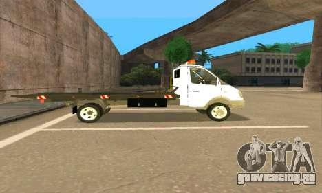 Газель Эвакуатор 33023 Beta v1.2 для GTA San Andreas вид слева