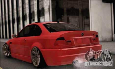 BMW M3 Coupe Tuned для GTA San Andreas вид слева
