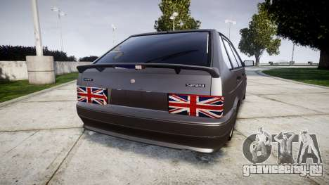 ВАЗ-2114 лондон для GTA 4 вид сзади слева