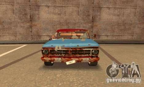 Ford PickUp Rusted для GTA San Andreas вид сзади слева