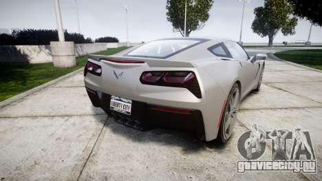 Chevrolet Corvette C7 Stingray 2014 v2.0 TireMi2 для GTA 4 вид сзади слева