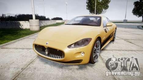 Maserati GranTurismo S 2010 PJ 1 для GTA 4