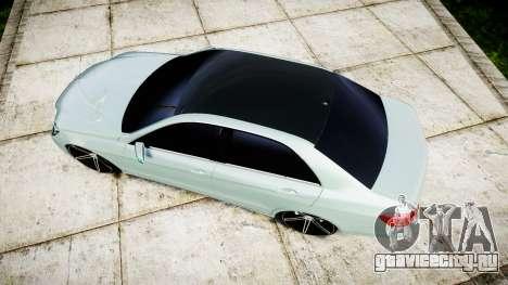 Mercedes-Benz E200 Vossen VVS CV5 для GTA 4 вид справа