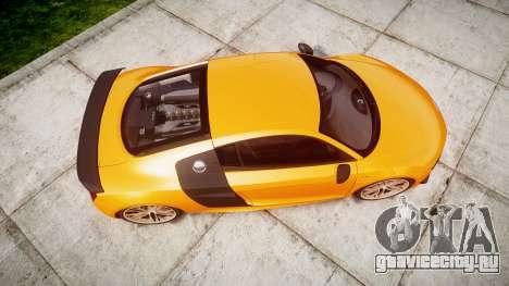 Audi R8 LMX 2015 [EPM] [Update] для GTA 4 вид справа