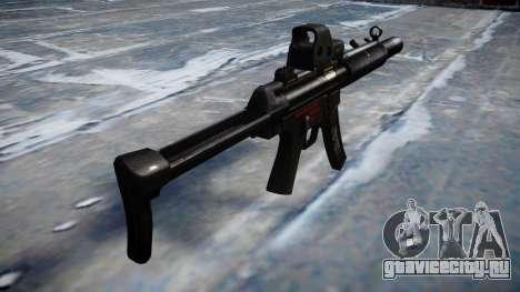 Пистолет-пулемёт MP5SD EOTHS FS b target для GTA 4 второй скриншот