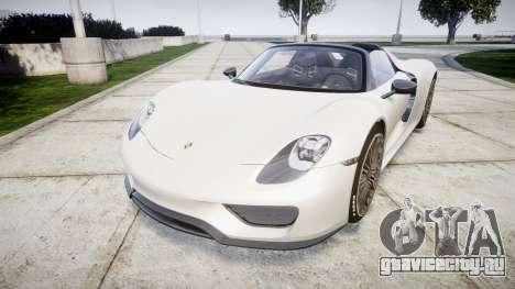 Porsche 918 Spyder 2014 для GTA 4
