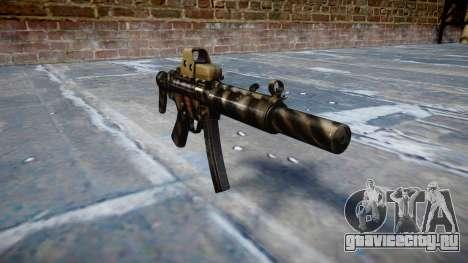 Пистолет-пулемёт MP5SD EOTHS CS c target для GTA 4