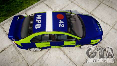Mitsubishi Lancer Evolution X Police [ELS] для GTA 4 вид справа