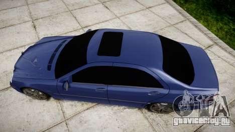 Mercedes-Benz W220 S65 AMG для GTA 4 вид справа