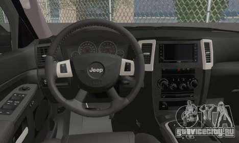 Jeep Grand Cherokee SRT8 для GTA San Andreas вид сзади слева