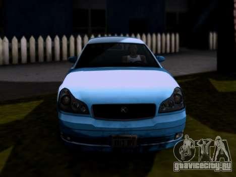 GTA V Intruder для GTA San Andreas вид сзади слева