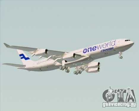 Airbus A340-300 Finnair (Oneworld Livery) для GTA San Andreas вид снизу
