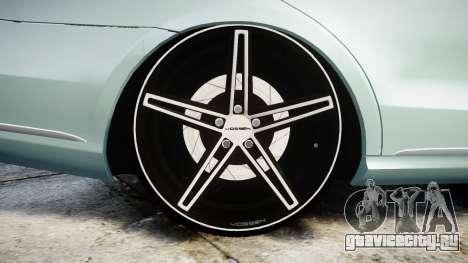 Mercedes-Benz E200 Vossen VVS CV5 для GTA 4 вид сзади
