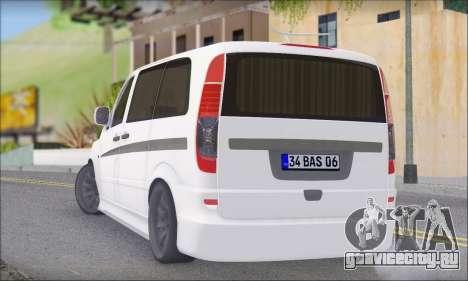 Mercedes-Benz Vito Vip для GTA San Andreas вид слева