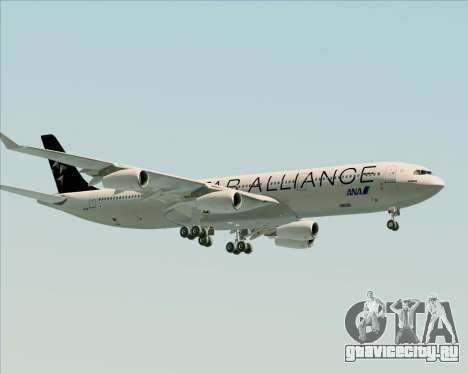 Airbus A340-300 All Nippon Airways (ANA) для GTA San Andreas вид сзади слева