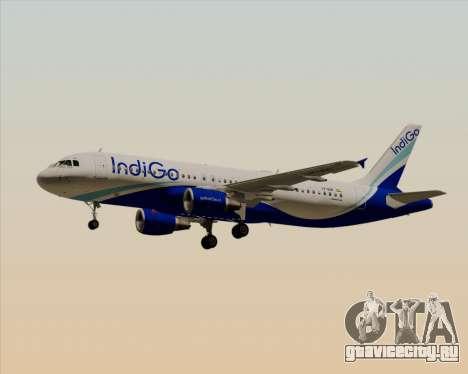 Airbus A320-200 IndiGo для GTA San Andreas вид сбоку
