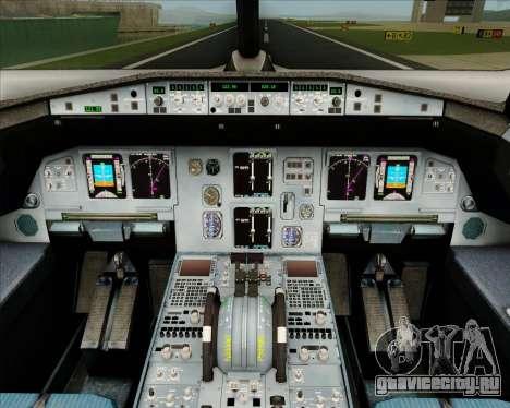 Airbus A320-200 IndiGo для GTA San Andreas салон