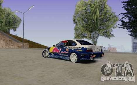 BMW E36 Red Bull для GTA San Andreas вид слева