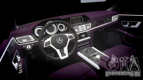 Mercedes-Benz E200 Vossen VVS CV5 для GTA 4 вид изнутри