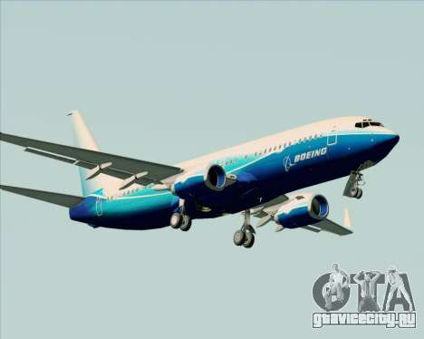 Boeing 737-800 House Colors для GTA San Andreas вид сверху