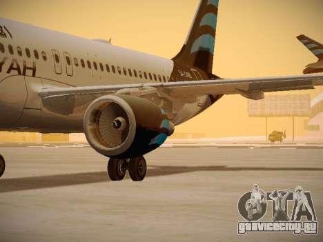 Airbus A320-214 Afriqiyah Airways для GTA San Andreas вид изнутри