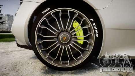 Porsche 918 Spyder 2014 для GTA 4 вид сзади