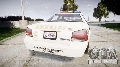 GTA V Vapid Police Cruiser Rotor [ELS] для GTA 4 вид сзади слева