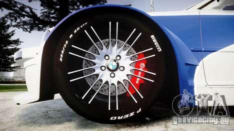 BMW M3 E46 GTR Most Wanted plate NFS ND 4 SPD для GTA 4 вид сзади
