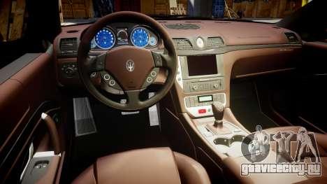 Maserati GranTurismo S 2010 PJ 2 для GTA 4 вид сзади